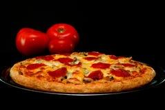 Pizza di merguez Immagine Stock