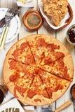 Pizza di merguez squisita Immagine Stock Libera da Diritti