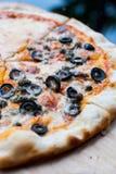 Pizza di Napole e pizza di formaggio Fotografie Stock Libere da Diritti