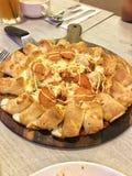 pizza di paperoni del pollo Fotografia Stock