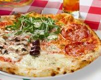 Pizza di Quattro Staggioni Immagine Stock Libera da Diritti