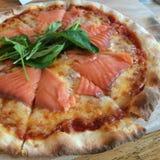 Pizza di Salmona Immagini Stock Libere da Diritti
