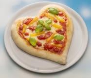 Pizza di San Valentino Fotografie Stock