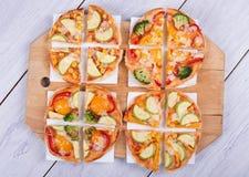 Pizza di verdure Immagine Stock