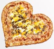 Pizza, dia do ` s do Valentim, dia do ` s do Valentim, amor da pizza Foto de Stock