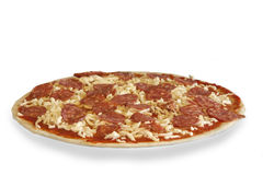Pizza Diavolo crude Stock Photography