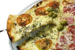Pizza die - dient Stock Afbeeldingen