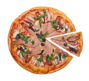Pizza différente de viande Photo libre de droits