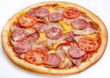 Pizza, différents genres de pizzas au menu du restaurant et pizzeria Images libres de droits