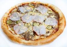 Pizza, différents genres de pizzas au menu du restaurant et pizzeria Photos stock
