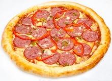Pizza, différents genres de pizzas au menu du restaurant et pizzeria Photographie stock libre de droits