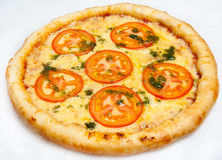 Pizza, different kinds of pizzas to the menu of restaurant and pizzeria Stock Images