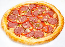 Pizza, different kinds of pizzas to the menu of restaurant and pizzeria Royalty Free Stock Photography