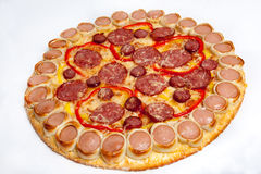 Pizza, different kinds of pizzas to the menu of restaurant and pizzeria Royalty Free Stock Photos