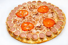 Pizza, different kinds of pizzas to the menu of restaurant and pizzeria Royalty Free Stock Images