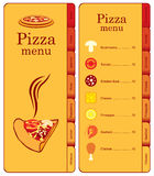 Pizza with different toppings Royalty Free Stock Photography