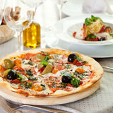 Pizza Dinner Royalty Free Stock Photography