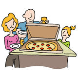 Pizza dinner family night Stock Images