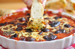 Pizza Dip Stock Photography