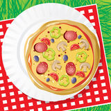 Pizza on a dish Royalty Free Stock Images