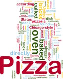 Pizza dish background concept Stock Image