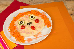 Pizza divertente Fotografie Stock