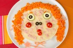 Pizza divertida Imagen de archivo libre de regalías