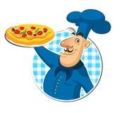 Pizza do cozinheiro chef ilustração royalty free