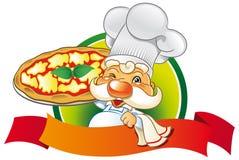 Pizza do cozinheiro chefe Imagem de Stock