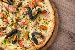 Pizza do italiano do marisco Fotografia de Stock Royalty Free