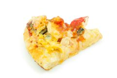 Pizza do marisco no fundo branco isolado Foto de Stock