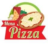 Pizza do menu Imagens de Stock