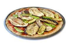 Pizza do Oriente Médio do vegetariano fotografia de stock