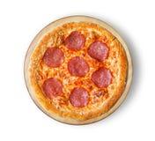 Pizza do salame do salame da pizza Fotos de Stock