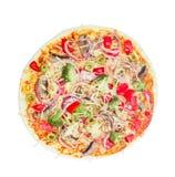 Pizza do vegetariano com vegetais, cogumelos e azeitonas Fotografia de Stock Royalty Free