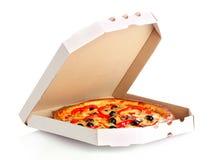 Pizza in doos royalty-vrije stock afbeeldingen
