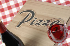 Pizza in doos aan meeneem Stock Fotografie
