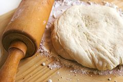 Pizza dough Stock Images