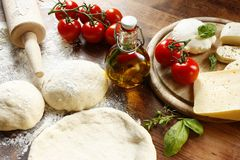 Pizza Dough Royalty Free Stock Photos