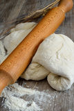 Pizza dough and bread Royalty Free Stock Photo