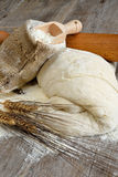 Pizza dough and bread Royalty Free Stock Photos