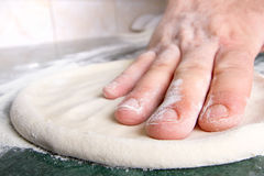 Pizza dough Stock Image