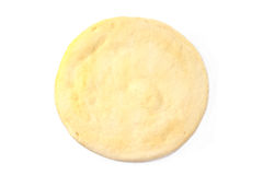 Pizza dough. Isolated on white Royalty Free Stock Photography