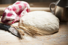 Pizza dough royalty free stock images