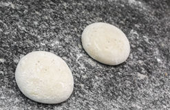 Pizza Dough. Upper view of two balls of pizza dough ready to be prepared on a table in a kitchen Royalty Free Stock Photo