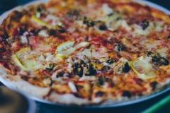 Pizza du plat Photo libre de droits