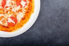Pizza du plat Photos libres de droits
