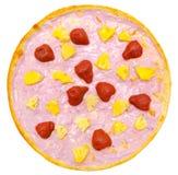 Pizza dulce del yogur Foto de archivo