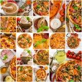 Pizza e spezia Fotografia Stock Libera da Diritti