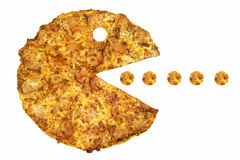 Pizza Eater Royalty Free Stock Image